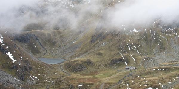Landawierseehütte diesmal nur aus Gämsenperspektive (03.10.2015)