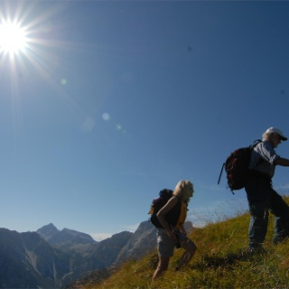 Hiking in the Dolomites of Braies