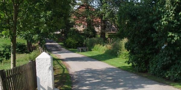 Bauernhofpension Lüdekingshof: Zufahrt