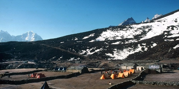 Hochpunkt bei Machermo 4440m mit Zeltlagerplätzen und Lodge.