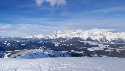 Aufstieg zur Gasselhöhe - den Dachstein immer im Blick