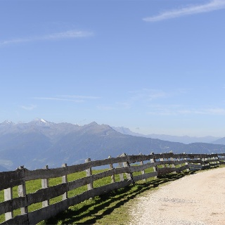 Panoramic view from the Voeran alp inn