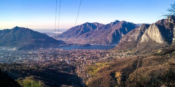 View over Lecco