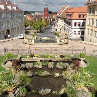 Schleifenroute - Blick von Schloss Friedenstein auf die Innenstadt Gotha