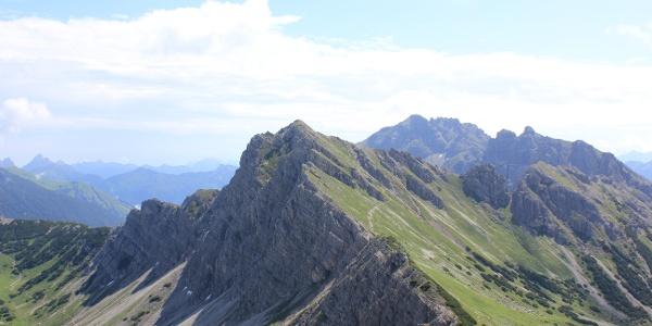 Lachenspitze. Aufgenommen von der Steinkarspitze