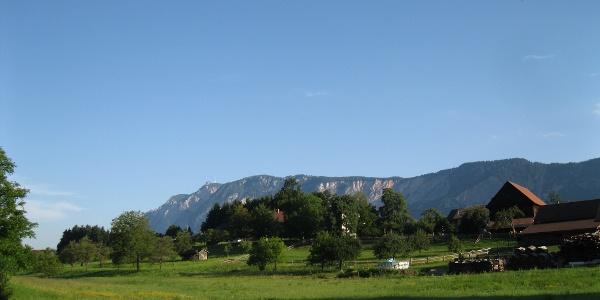 Guten Morgen Riegersdorf, der Talort am Wurzenpass.