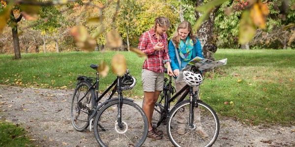 Radfahrer im Lenninger Tal