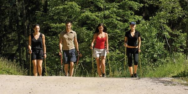 Persone che passeggiano su sentiero Madonna di Colle