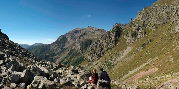 Passo Sadole -  Panorama sul Cardinal