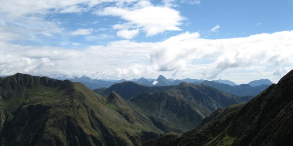Blick nach Süden in die julische Bergwelt