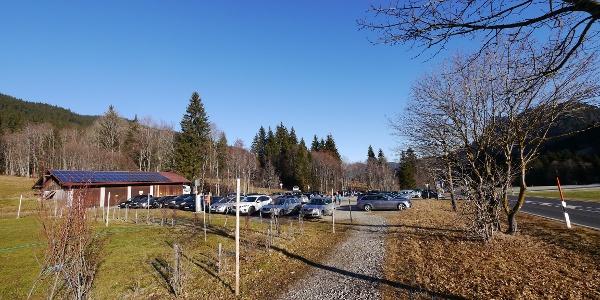 Der Parkplatz in Obergschwend