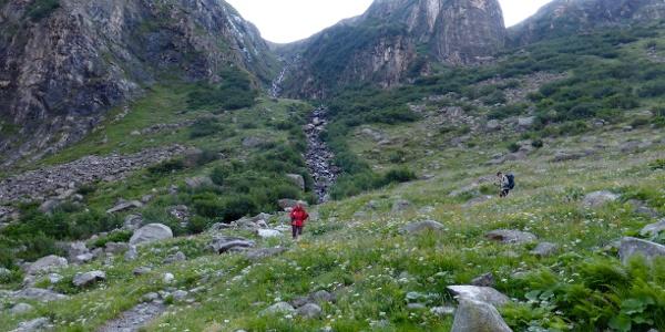 Im Abstieg von der Greizer Hütte
