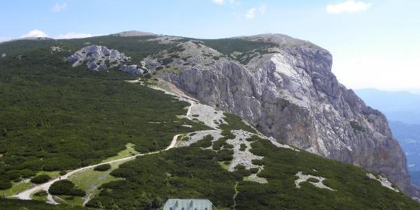 Blick auf die Neue Seehütte