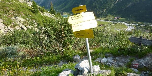 Abstieg zum Gasthaus Alpenrose