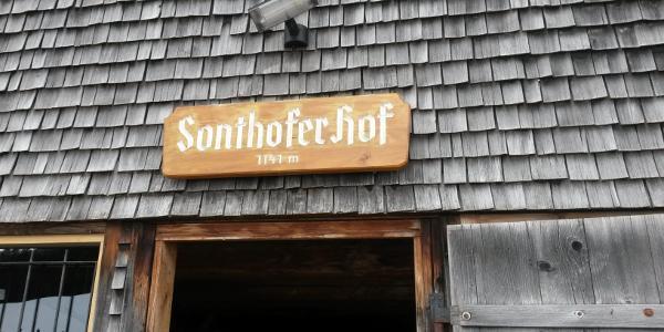 Am Ziel: Der Sonthofer Hof.