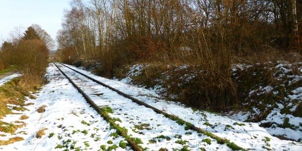 stillgelegte Gleise der Hunsrückbahn