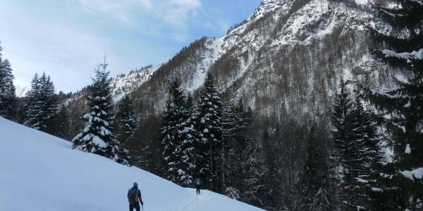 Bürglkopf Nordflanke aus dem Spielberggraben