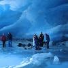 Schneeschuhwanderung in das Innere des Gletschers