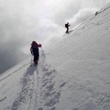 letztes Steilstück knapp vor dem Gipfel