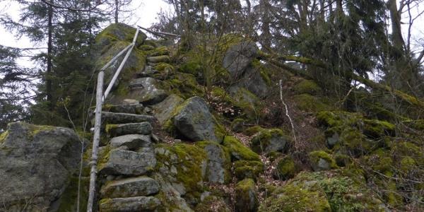 """Einstieg in die """"Steinerne Wand"""""""