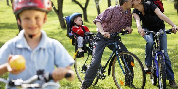 Radfahren mit der Familie