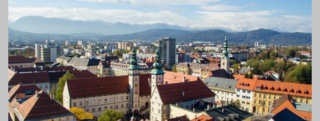 Aussicht vom Stadtpfarrtum Klagenfurth