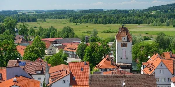 Blick über die Altstadt von Isny