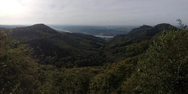 Blick über das Siebengebirge Richtung Rhein