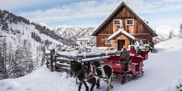 Pferdeschlittenfahrt zur Pritzhütte