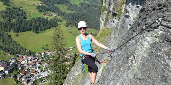 Übungsklettersteig Gletschergoaß in Hüttschlag