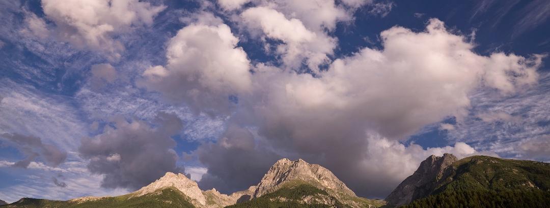 Die Unterengadiner Bergwelt mit dem Piz Lischana