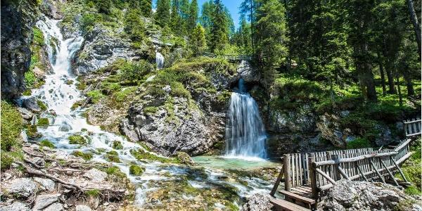 Bridges of the Vallesinella high waterfalls