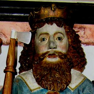 Sankt Olof med yxa