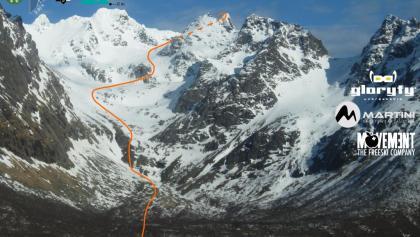 Geitgaljartind Topo - Übersichtsbild Anstieg durch das Lilandsdalen