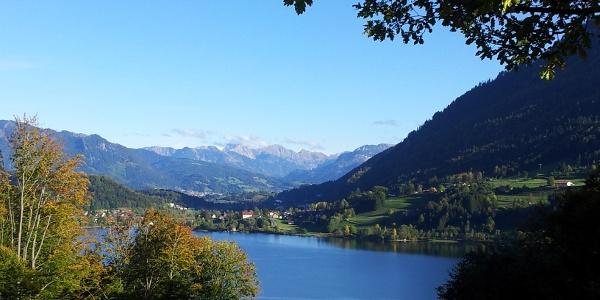 Ausblick von der Alpe Schönesreuth