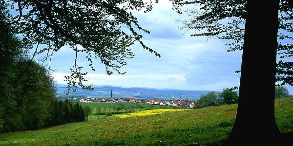 Blick auf die Hügellandschaft des Blomberger Beckens