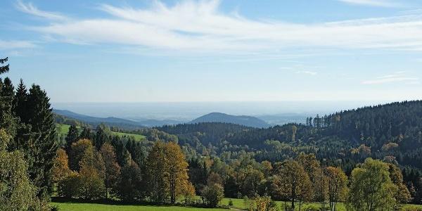 Blick zur Donauebene bei Grün