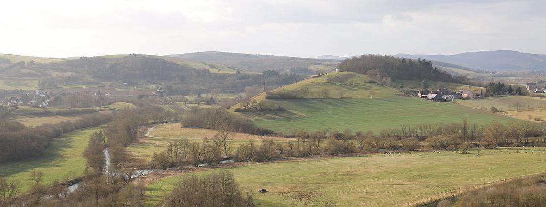 Disibodenberg mit Glanmündung bei Odernheim