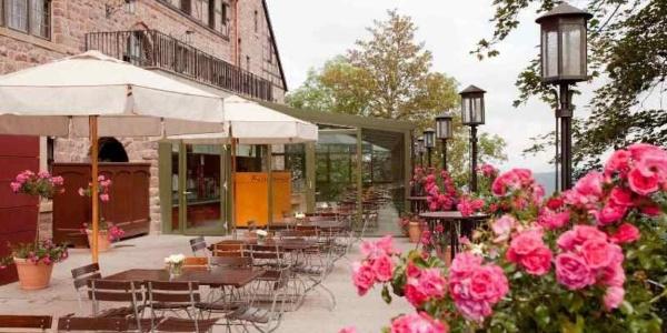 Biergarten Romantik Hotel auf der Wartburg