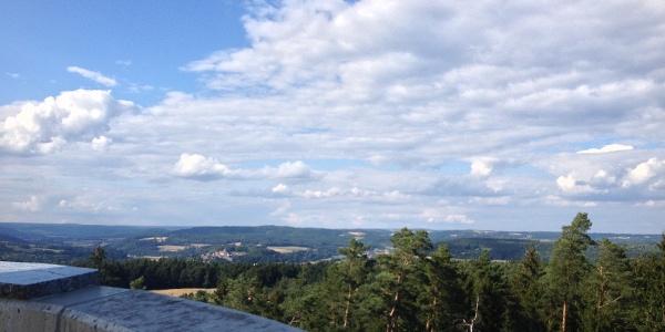 Blick vom Lucas-Cranach-Turm, Foto: Naturpark Frankenwald