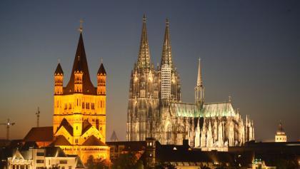 Kölner Dom und Groß St. Martin