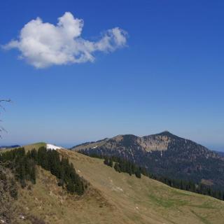 Blick vom Rotkopf zurück zu Roßkopf und Brecherspitz