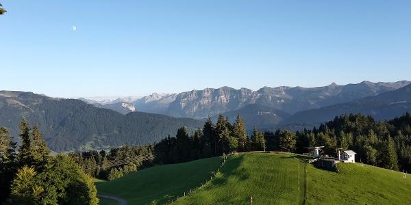 Blick vom Brüggelekopf in den Bregenzerwald