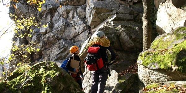 Klettergarten im Quarzit