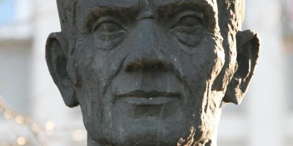Detailaufnahme der Statue