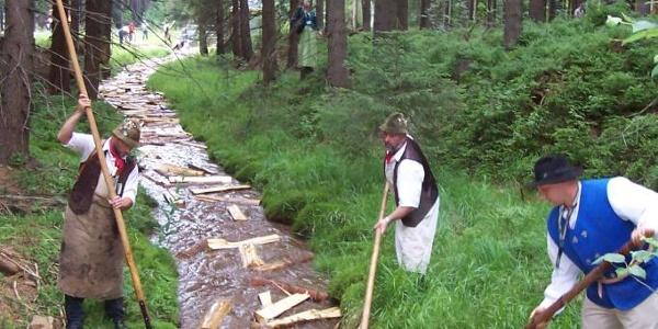 Flößer bei Muldenberg