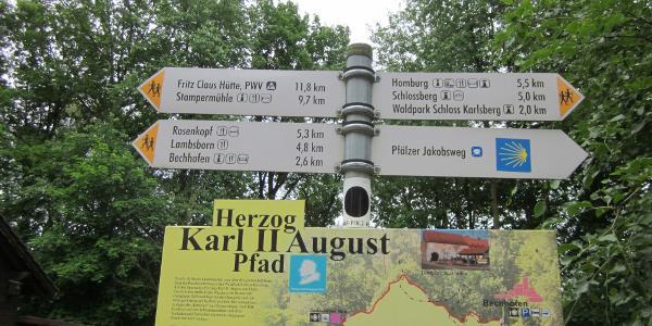 Tafel an der Kehrberghütte