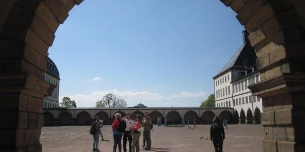 Im Schlosshof Friedrichstein Gotha