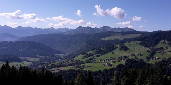 Ausblick vom Bergvorsäß