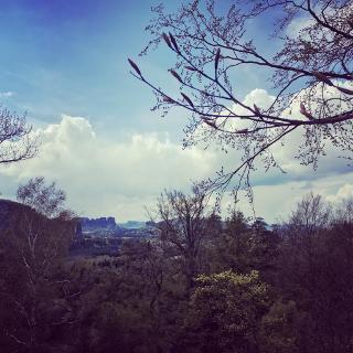 Traumhafte Aussicht vom Kuhstall-Felsen